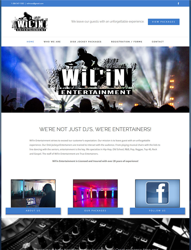 Wilin Entertainment DJ Website
